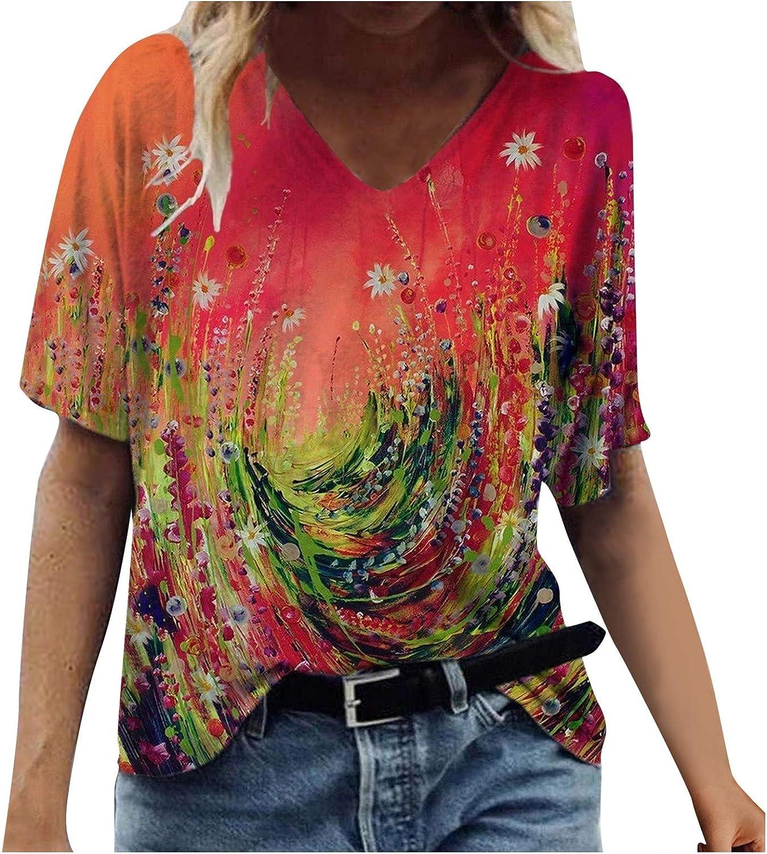 FABIURT Womens Summer Tops 2021 Cotton Womens Summer Tops Short Sleeve Raglan T Shirts Casual Crew Neck Pure Color Side Split Tee Blouses