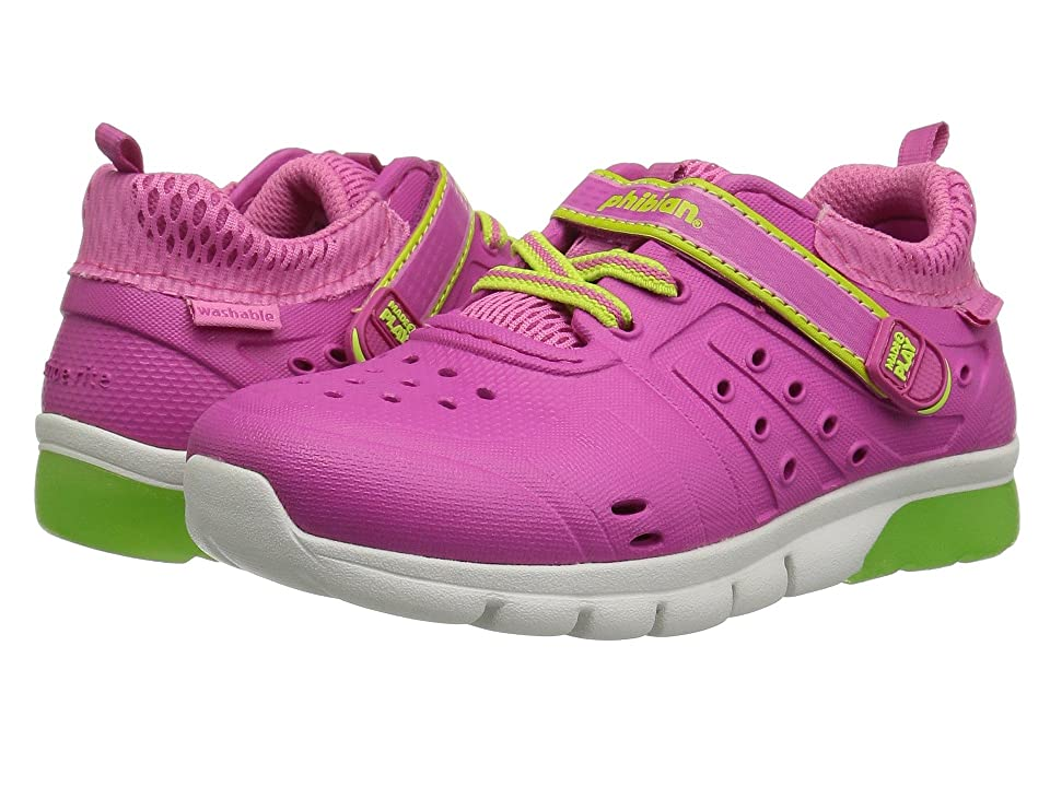 Stride Rite Made 2 Play Phibian Lighted (Toddler/Little Kid) (Pink/Lime) Girls Shoes