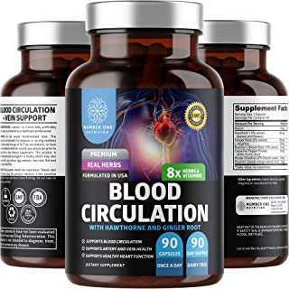 N1N Premium Blood Circulation Supplement [8 Powerful Herbs & Vitamins] All Natural Supplement to Support Blood Flow & Hear...