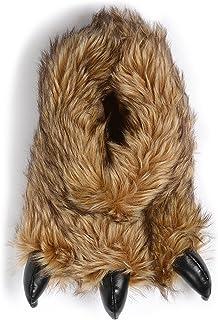 Pantuflas divertidas para hombre, con diseño de garra de oso o monstruo, ideal para regalo