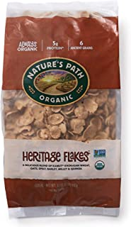 Nature's Path Heritage Flakes Whole Grains Cereal, Healthy, Organic, 32 Ounce (Pack of 6)