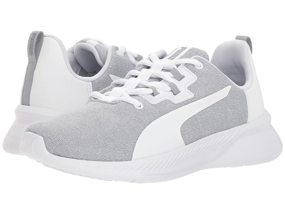 Puma Kids Tishatsu Runner Knit (Big Kid) (Quarry/Puma White) Kids Shoes