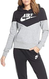 promo code f3b1e 520b9 Nike W NSW Hrtg Hoodie FLC Sweat-Shirt Femme
