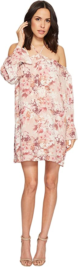 Miss Me Halter Off the Shoulder Floral Dress