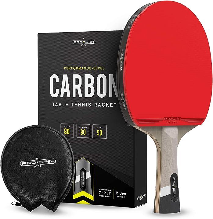 Racchetta da ping pong con tecnologia pro carbon fiber per un maggiore controllo pro spin TTR-100-C