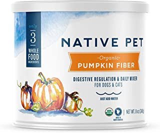 Native Pet Organic Pumpkin for Dogs (8 oz, 16 oz) - All-Natural, Organic Fiber for Dogs - Mix with Water to Create Delicio...
