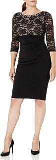 فستان حريمي ضيق من Jessica Howard مطرز عند الرقبة وخصر إمبراطوري على الجانب