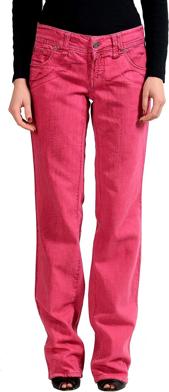 John Galliano Women's Pink Straight Leg Jeans US 29 IT 43