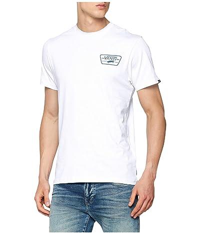 Vans Full Patch Back Short Sleeve T-Shirt (White/Black) Men