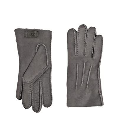 UGG Contrast Water Resistant Sheepskin Tech Gloves (Charcoal) Extreme Cold Weather Gloves