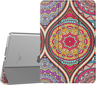 TiMOVO Cover Compatible for New iPad Mini 5th Generation 2019 Case, Slim Translucent Frosted Back Protector Smart Case with Auto Wake/Sleep, Smart Cover Fit iPad Mini 5 2019 - Mandala