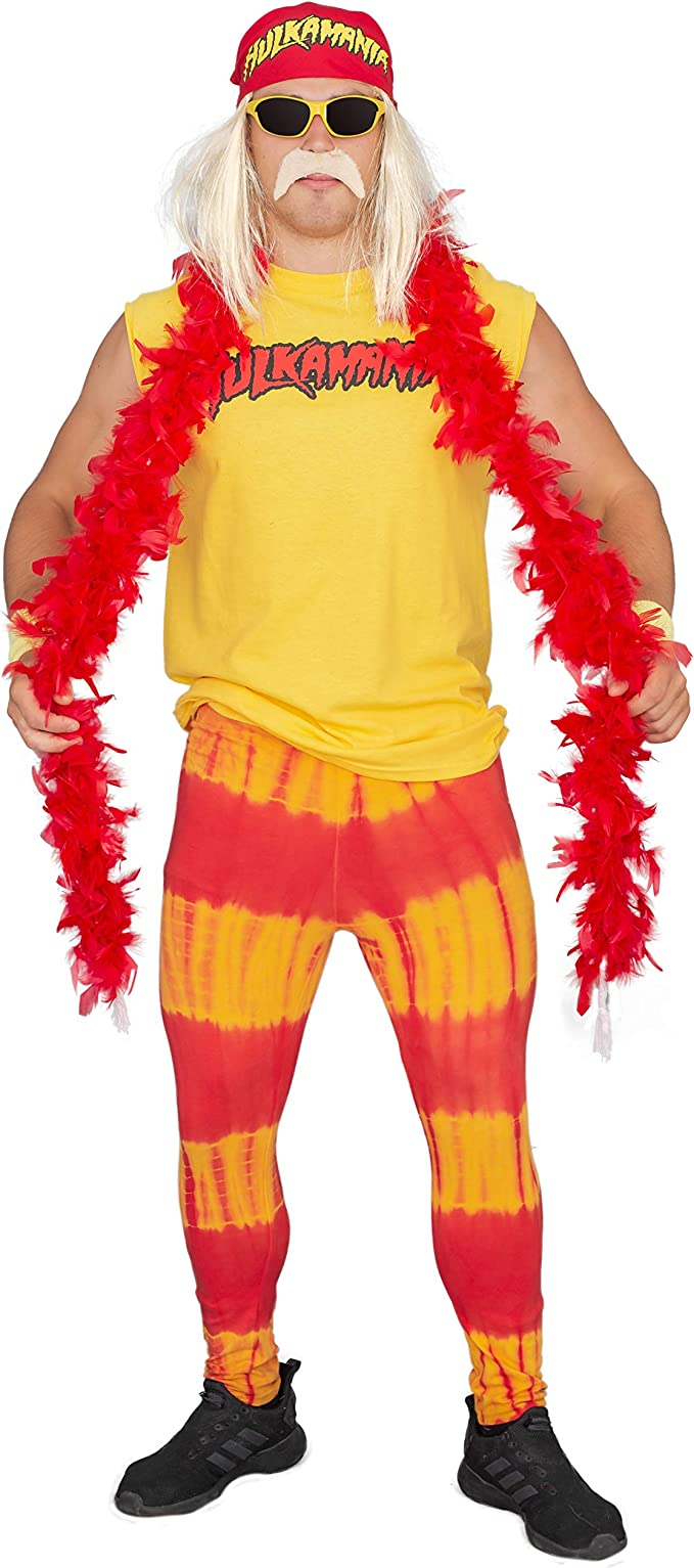 Hulk Hogan, Hulkamania - Set completo per costume : Amazon.it ...
