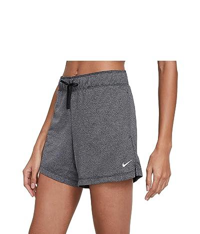 Nike Dry Attack Shorts (Sizes 1X-3X) (Black/Heather/Black/White) Women