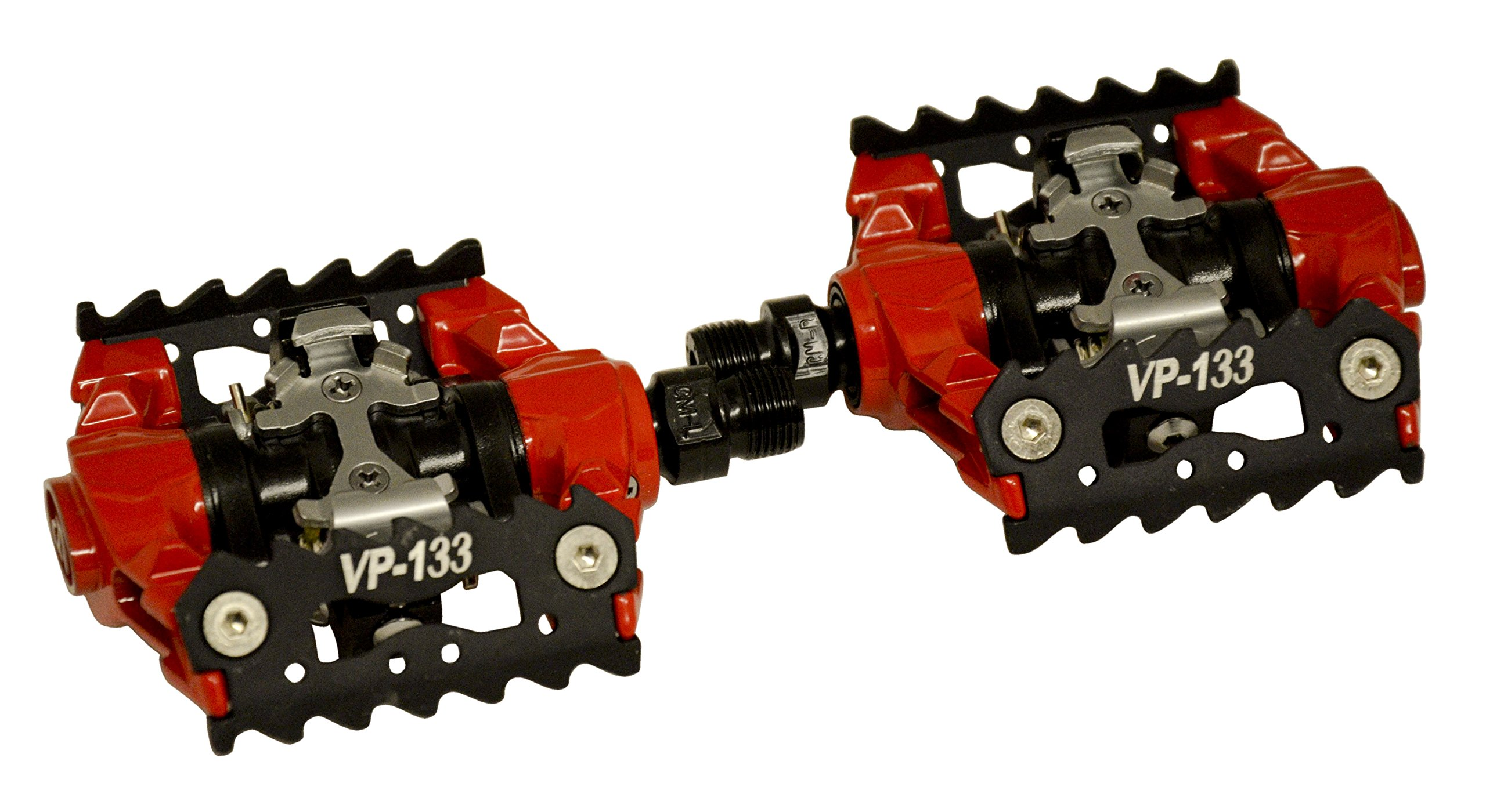 VP COMPONENTES 133 Pedal de Bicicleta de montaña, Unisex, Rojo ...