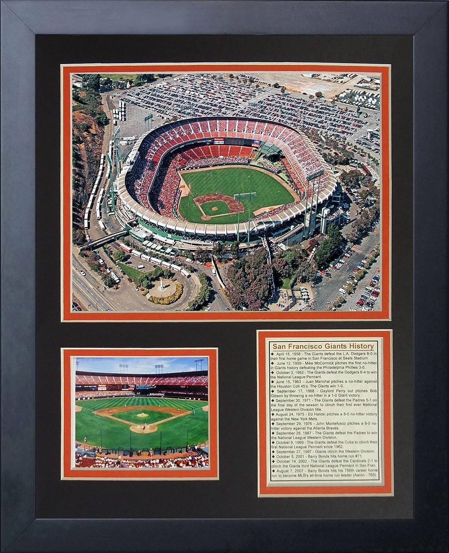 Legends Never Die San Francisco Giants Candlestick Park  Framed Photo Collage, 11 x 14Inch
