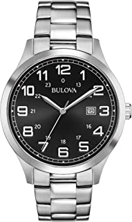 Bulova - Reloj de acero inoxidable 96B274 para hombre.