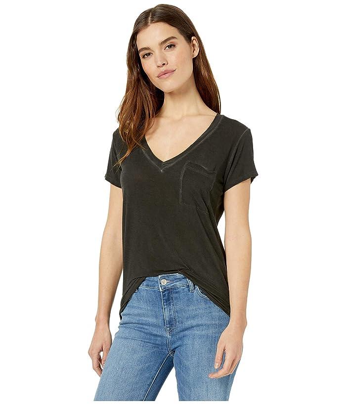 LAmade V-Pocket Tee (Black) Women's T Shirt