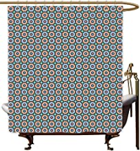 Funny Shower Curtain Moroccan Mosaic Circular Pattern Arrow Shapes Marrakech Inspired Design Abstract Motifs Shower Curtains in Bath W94x72L Multicolor