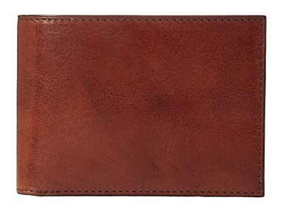 Bosca Old Leather Collection Credit Wallet w/ ID Passcase (Cognac Leather) Bi-fold Wallet