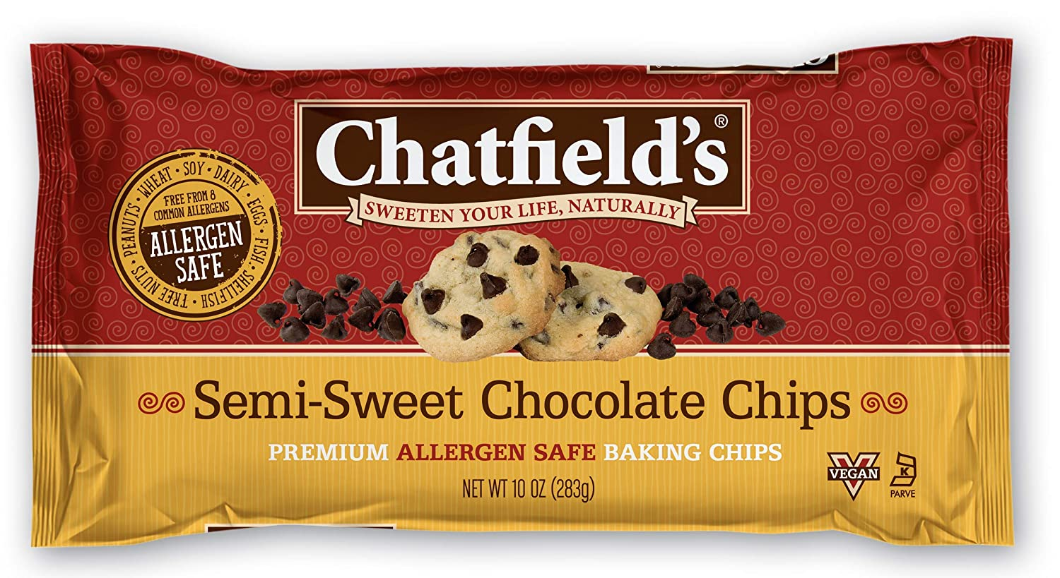 Chatfields Allergen Safe Semi-Sweet Chocolate 10 Baking o Max 63% OFF Chips Max 41% OFF