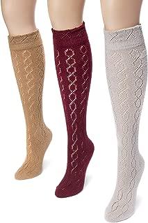 Women's 18'' Pointelle Knee High Socks Warm Pack, Multi, One Size (pack of 3)
