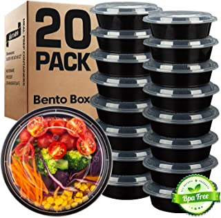 GUFARO Meal Prep Containers, Food Storage Lunch Box with Lids for Kids and Adults - Salads, Microwave Snacks, Freezer and ...