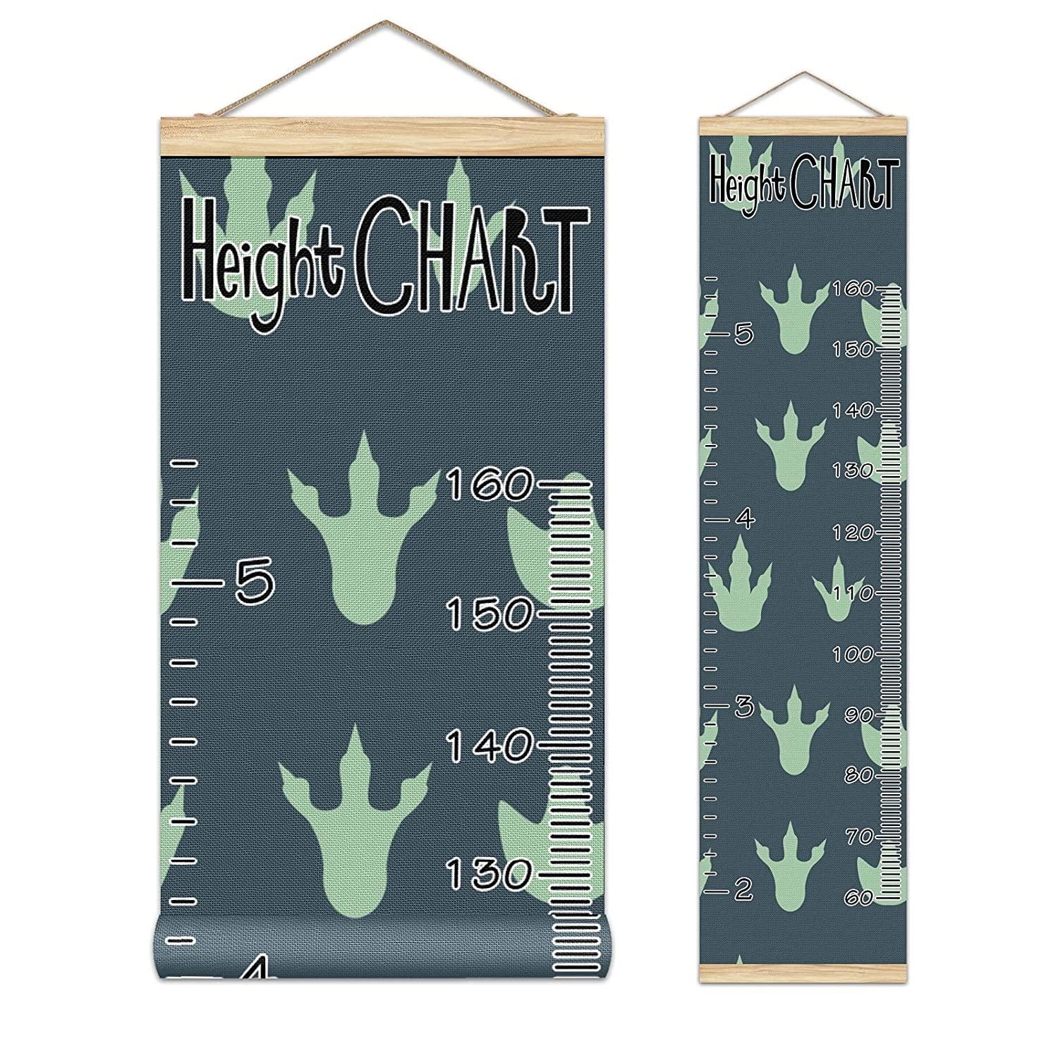 Growth Chart Ranking TOP10 Now free shipping Kid's Height Dinosaur Cute Pattern- Footprint