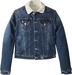 Sherpa Lined Denim Jacket (Big Kids)