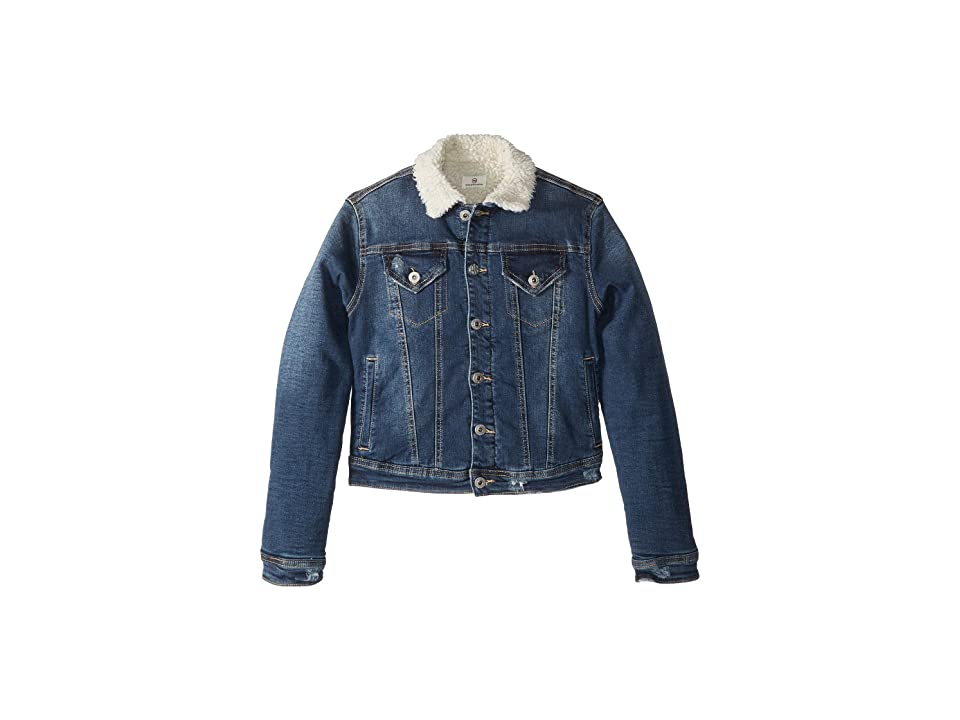 AG Adriano Goldschmied Kids Sherpa Lined Denim Jacket (Big Kids) (Iceberg Wash) Girl