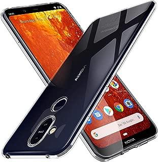 Nokia 8.1 case, KuGi Nokia 8.1 case, [Shock/Scratch Absorption Protection] Ultra-Thin Flexible Rubber Soft TPU Bumper Case for Nokia 8.1 Smartphone Vostrostone-TPU-Nokia-8.1-Clear