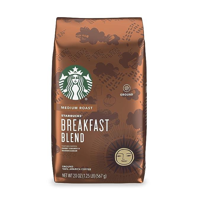 Starbucks Medium Roast Ground Coffee, Breakfast Blend