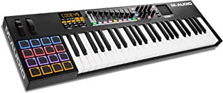 M-Audio Code 49 (Black) | USB MIDI Controller With 49-Key Velocity Sensitive Keybed, X/Y Pad, 16 Velocity Sensitive Trigger Pads & A Full-Consignment of Production/Performance Ready Controls