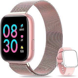 AIMIUVEI Smartwatch, Reloj Inteligente Mujer Hombre IP67 con Pulsómetro, 1.4 Inch Smartwatch Presión Arterial Monitor de S...
