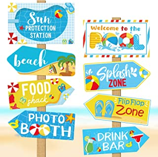 Huray Rayho Beach Ball Pool Party Birthday Party Signs Summer Party Supplies Splish Splash Birthday Cutouts Beach Party Decor