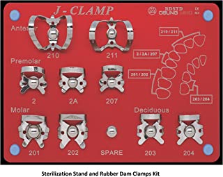 Sterilization Stand and Dental Rubber Dam Clamps Kit, Dental Rubber Dam Clamps, RDCSET RDSTD Kit. Endodontic Tool, Dental Rubber Dam, Dental Rubber Dam Clamp Kit