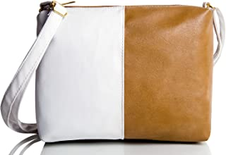 Mammon Pu Leather sling bags for womens (Beige)