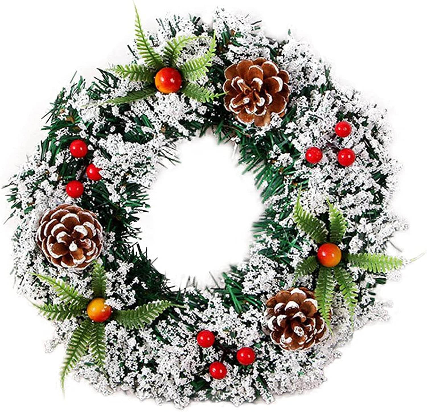 DSYLAI Christmas Max 80% Louisville-Jefferson County Mall OFF Festival Spruce Wreath 7.9inch 20cm Chr Merry