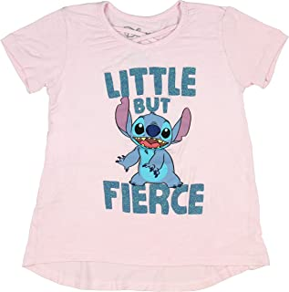 Seven Times Six Disney Lilo and Stitch Toddler Girl's Little But Fierce Criss Cross V-Neck T-Shirt