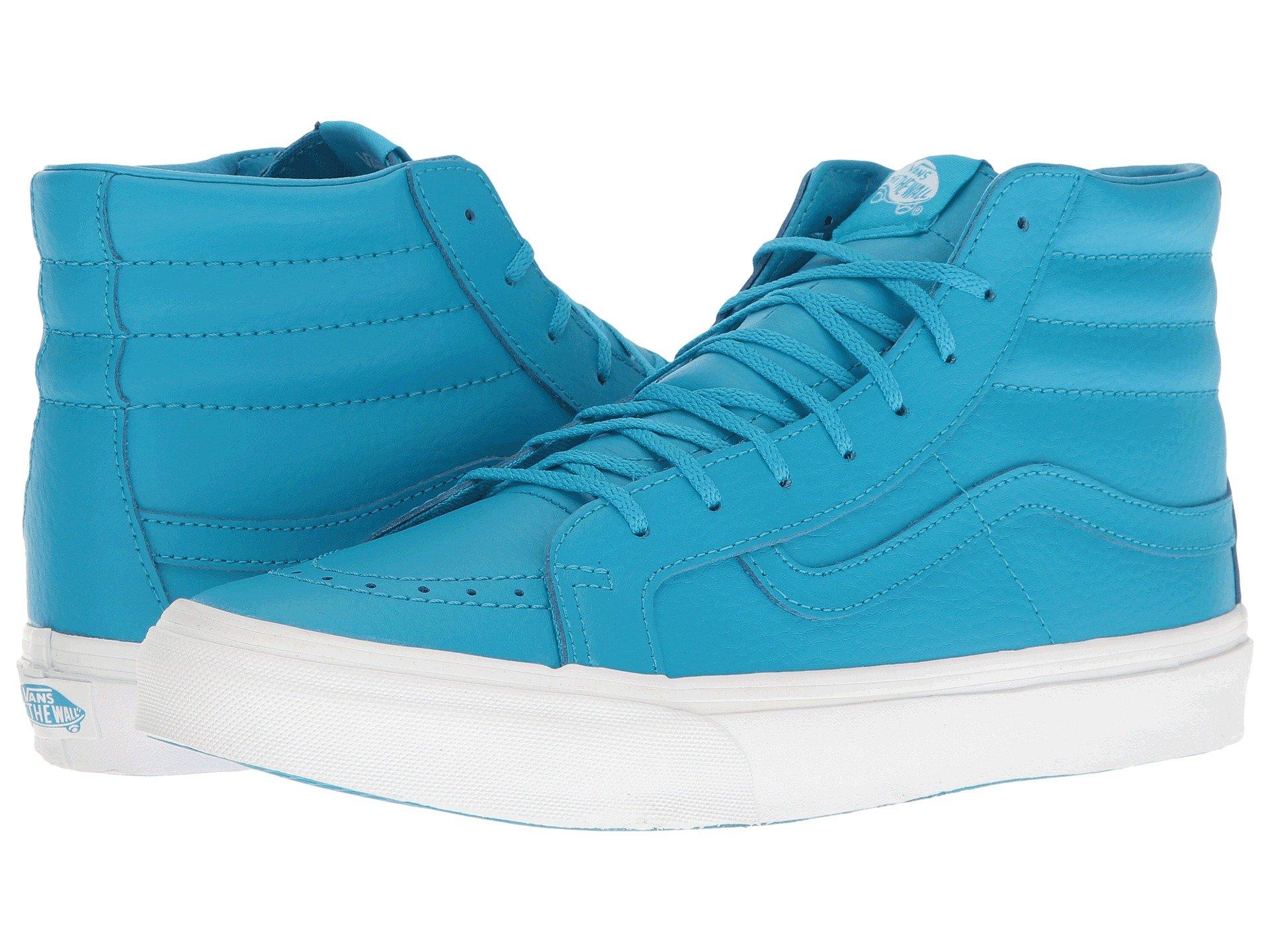 4ff5f1efa8da88 Vans Sk8-Hi Slim In (Neon Leather) Neon Blue True White