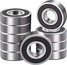Fast go 10 Pcs 6204-2RS Double Rubber Seal Bearings 20x47x14mm, Pre-Lubricated and Stable Performance and Cost Effective, Deep Groove Ball Bearings.