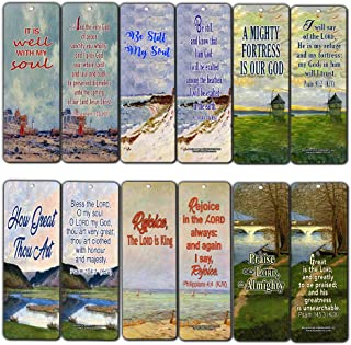 Be Still My Soul Christian Bookmarks Cards (12-Pack) - KJV King James Version - It is Well with My Soul - Evangelism Outreach Tool Cell Group to Share Gospel of Jesus Christ