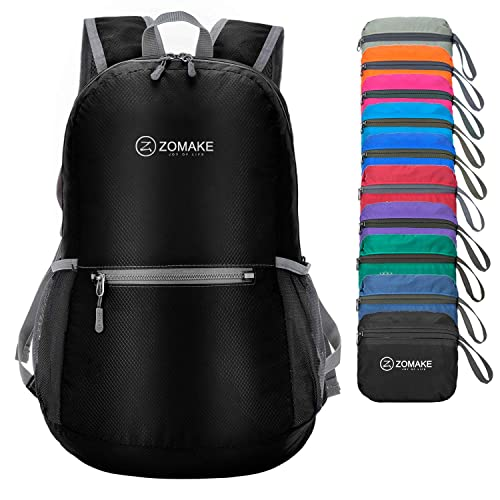 ZOMAKE Ultra Lightweight Foldable Backpack Water Resistant Hiking Daypack