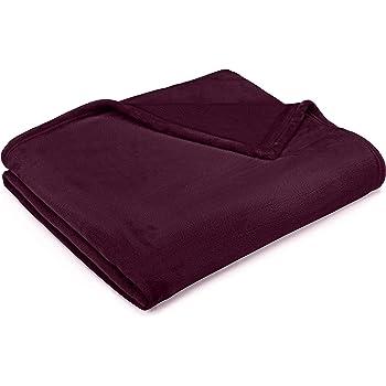 Pinzon Velvet Plush Blanket - King, Aubergine