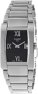 ساعة تيسوت جينيروسي-تي للنساء ذات مينا اسود وسوار من الستانلس ستيل - T007.309.11.053.00