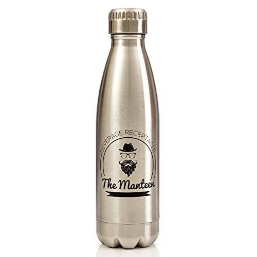 The Manteen - Great Gifts for Men!, Keeps Your Beverage Hot or Cold All Day, Stainless Steel Water Bottle, Double Walled Insulated