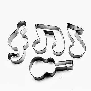 LAWMAN Music Notes Signs Symbol Guitar Fondant Biscuit Baking Cookie Cutter 4 pcs Set