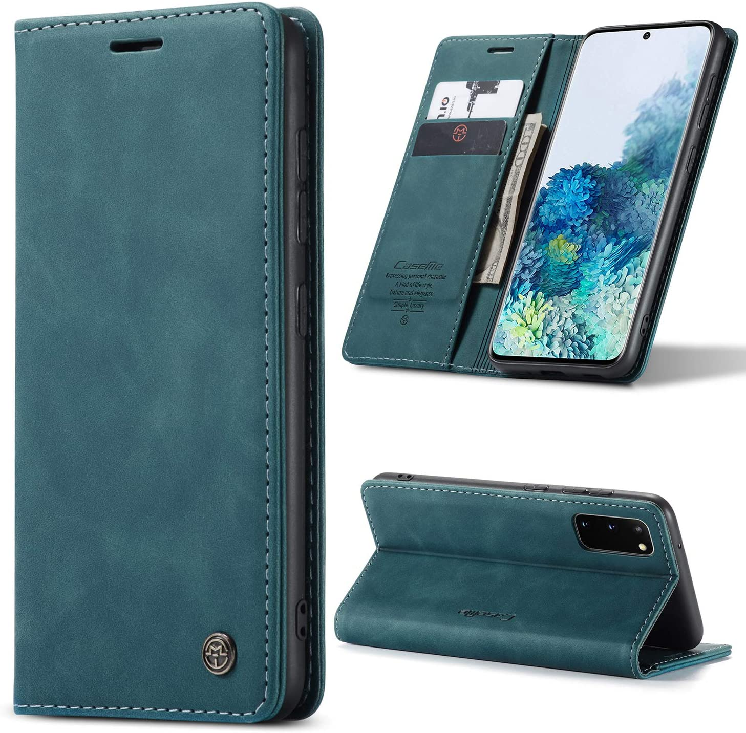 Kowauri Galaxy S20 FE 5G Case,Leather Wallet Case Classic Design with Card Slot and Magnetic Closure Flip Fold Case for Samsung Galaxy S20 Fan Edition 5G (Blue)