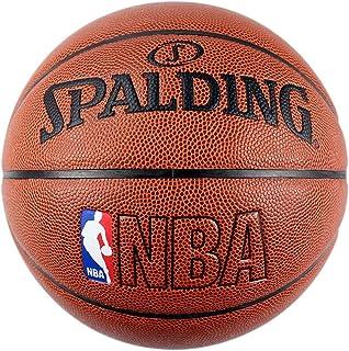 SPALDING斯伯丁 室内室外篮球74-601Y PU材质 NBA彩色运球人蓝球74-601Y
