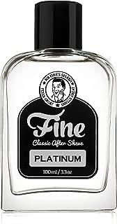 Fine Platinum Men's Aftershave - A Splash Of Classic Barbershop Aftershave for Modern Men - The Wet Shaver's Favorite