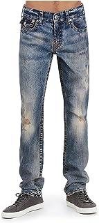 True Religion Men's Slim Earthworm Big T Jeans w/Flaps in Burning Phoenix